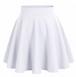 Falda Escolar Blanca Normal A La Cintura