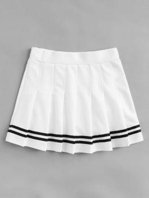 Falda Escolar Blanca Pequena