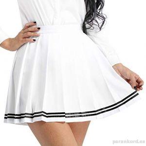Falda Escolar Blanca Plisada Tipo Escoces