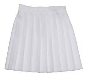 Falda Escolar Blanca Sencilla Plisada Corta