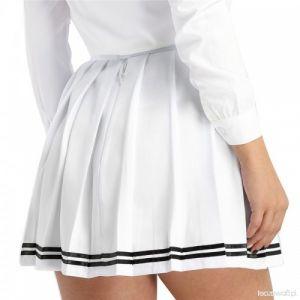 Falda Escolar Blanca Tipo Mini