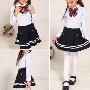 Falda Negra Con Lineas De Uniformes De Colegio Para Niñas