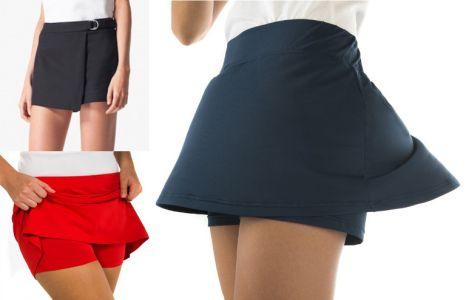 Falda Pantalon Escolar Corta Con Pantalon Visible
