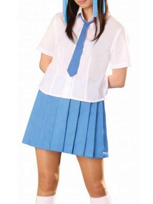 Falda Plisada De Uniforme Escolar Azul Cstradha