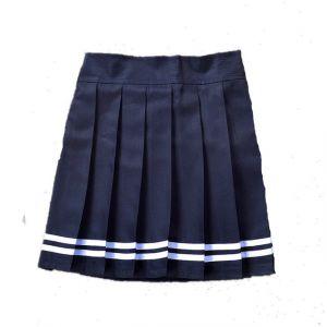 Falda Plisada Japonesa De Uniforme Escolar Azul Cstradha