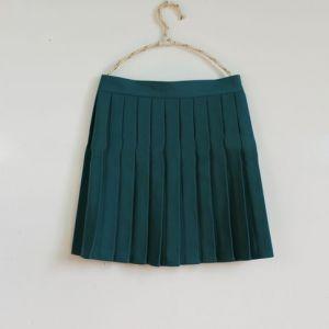Falda Plisada Para Uniforme Escolar Verde