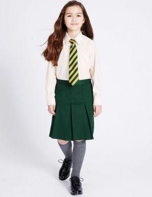 Falda Y Camisa De Uniforme Escolar Verde