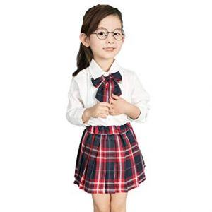 Faldas Escolares Para Niñas Con Corbatin Combinado