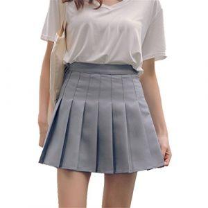 Faldas Escolares Para Niñas Plisadas Grises