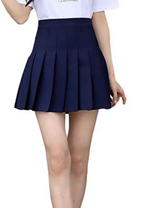 Faldas Escolares Plisadas Azul Marino