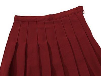 Faldas Para El Colegio Roja Plisada