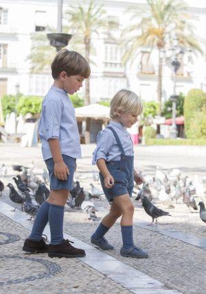 Jumper Y Bermuda Corta De Uniforme Escolar Para Ninos Cstradha