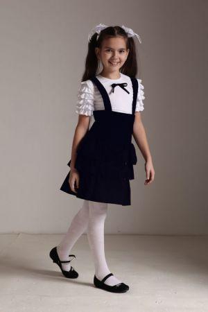 Jumper Y Blusa Blanca De Uniforme Escolar Para Nina
