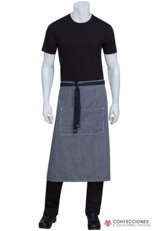 mandil para chef mil rayas gris cstradha