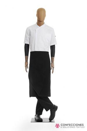 mandil para chef negro liso cstradha