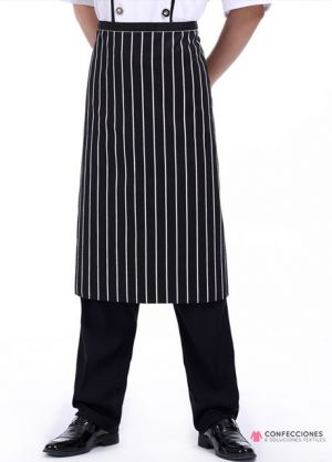 mandil para chef rayas blancas cstradha