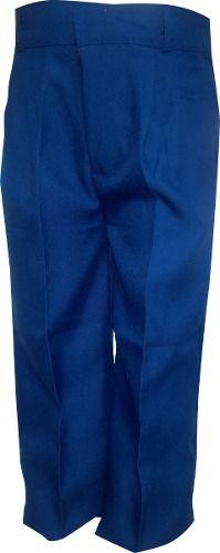 Pantalon Escolar Azul De Tela Fina