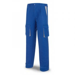 Pantalon Escolar De Trabajo Azul En Algodon