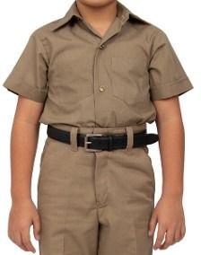 Pantalon Escolar Kaki Con Camisa