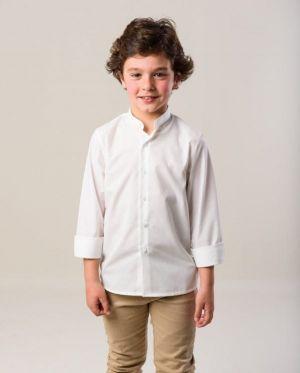 Pantalon Escolar Kaki Con Camisa Blanca