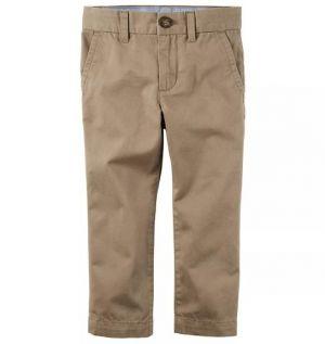 Pantalon Escolar Kaki En Tela Drill