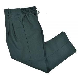 Pantalon Escolar Verde De Tela Fina