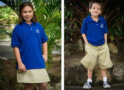 Pantalon Y Falda De Uniforme Escolar Azul Rey Cstradha
