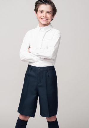 Pantalones Escolares Para Ninos Corto Azul Marino
