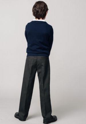 Pantalones Escolares Para Ninos Formal Gris