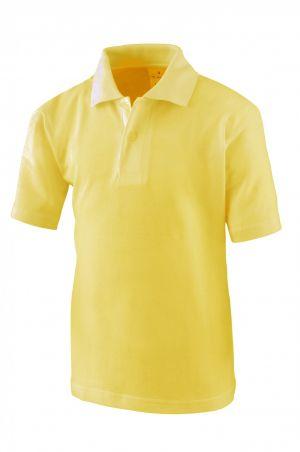 Polo Amarillo Pollito De Uniforme Escolar Amarillo