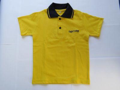 Polo Combinado De Uniforme Escolar Amarillo