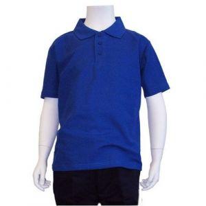 Polo Puesto De Uniforme Escolar Azul Rey Cstradha