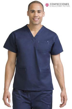 uniforme medico hombre azul cstradha