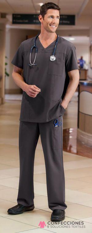 uniforme medico hombre gris cstradha