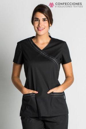 uniforme medico negro cstradha