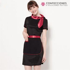 uniforme para camarera con lazo rojo cstradha