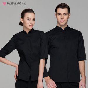 uniforme para camarero negro liso cstradha