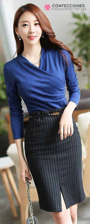 uniforme para rececpionista con blusa