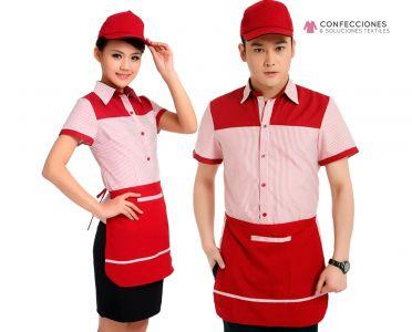 uniforme para servicio de comida rapida cstradha