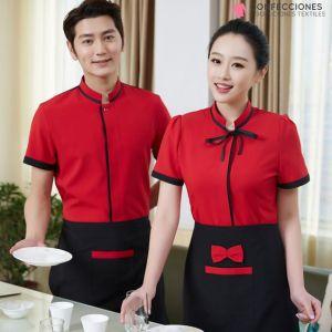 uniforme rojo para mozos