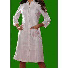 Vestido Chacabana Blanco Manga Larga