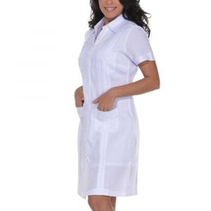Vestido Chacabana Manga Corta Blanco De Mujer