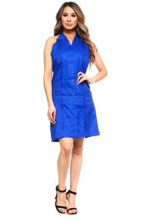 Vestido Chacabana Sin Mangas, Azul Royal