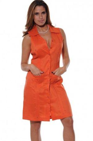 Vestido Chacabana Sin Mangas Color Naranja