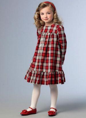 Vestido Rojo De Uniforme Escolar Para Nina
