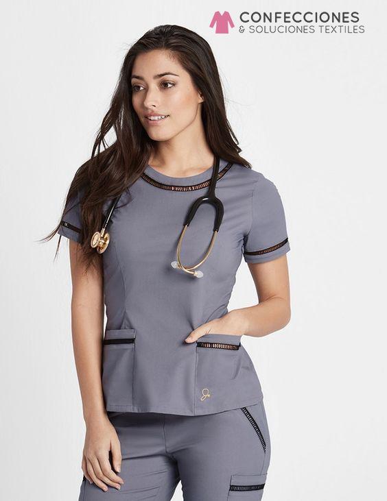 uniforme medico con cinta ripeada cstradha