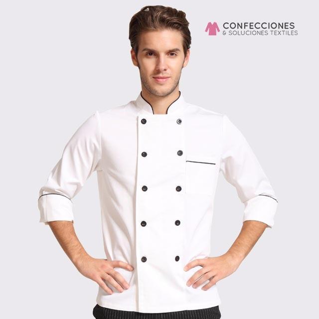 uniformes chef botones combinados