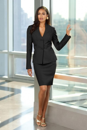 Uniforme ejecutivo moderno para dama color negro cstradha