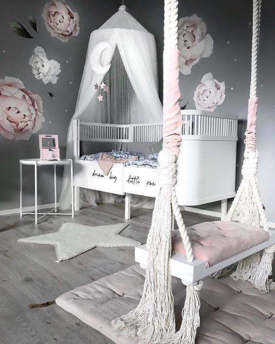 Cuarto De BebÉ En Rosa Y Blanco: Decorar Una Habitacion Infantil
