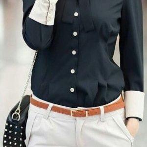 blusas para uniformes ejecutivos en santo domingo, rd, con puños, cuello combinado y lazo